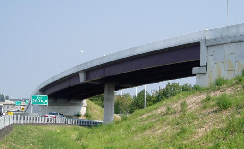 Fully-Integral Curved Flyover Bridge